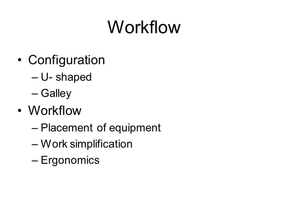 Workflow Configuration Workflow U- shaped Galley