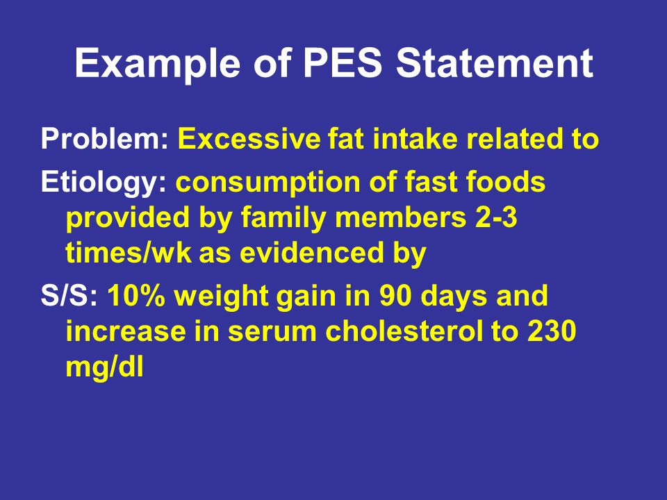 Example of PES Statement