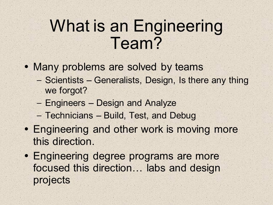 What is an Engineering Team