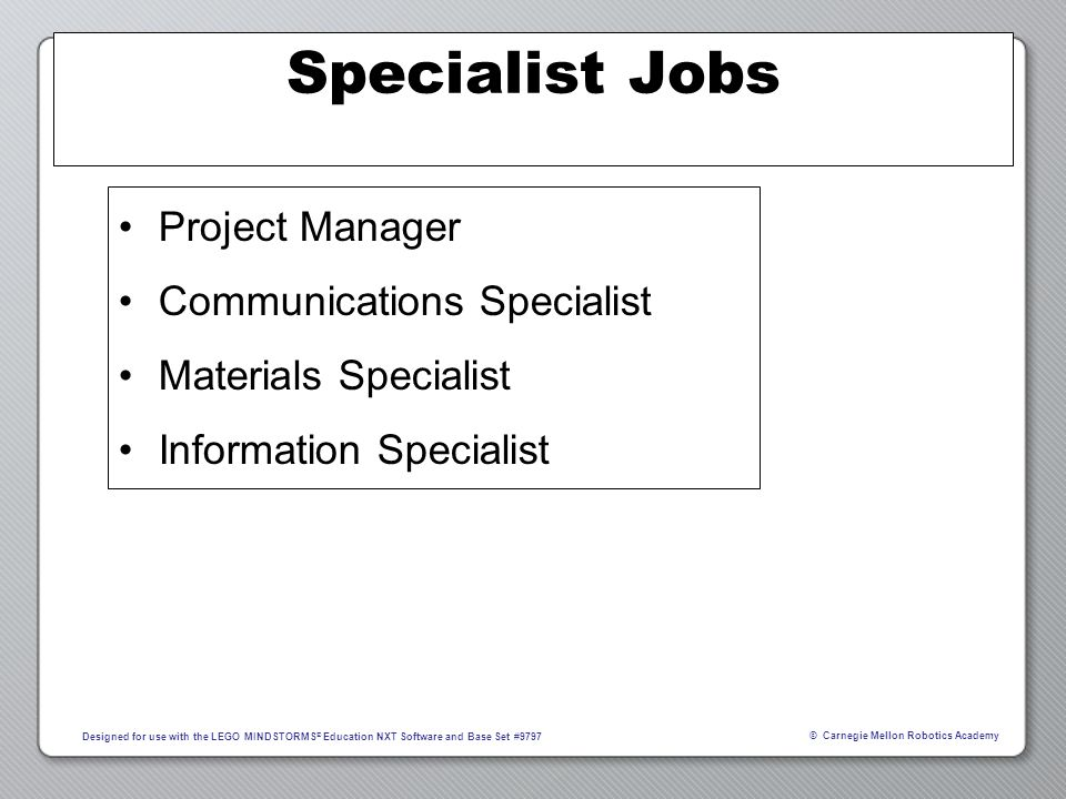 Specialist Jobs Project Manager Communications Specialist