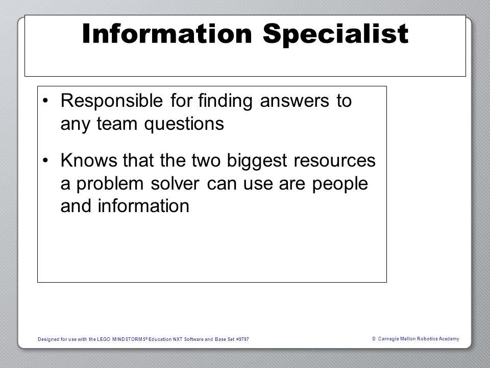 Information Specialist