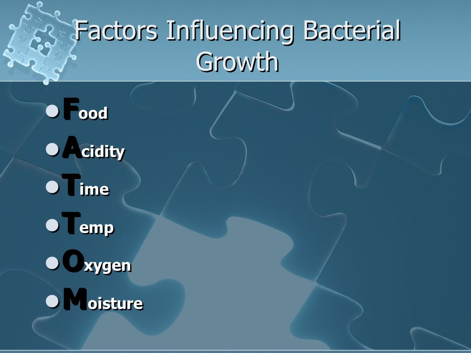 Factors Influencing Bacterial Growth