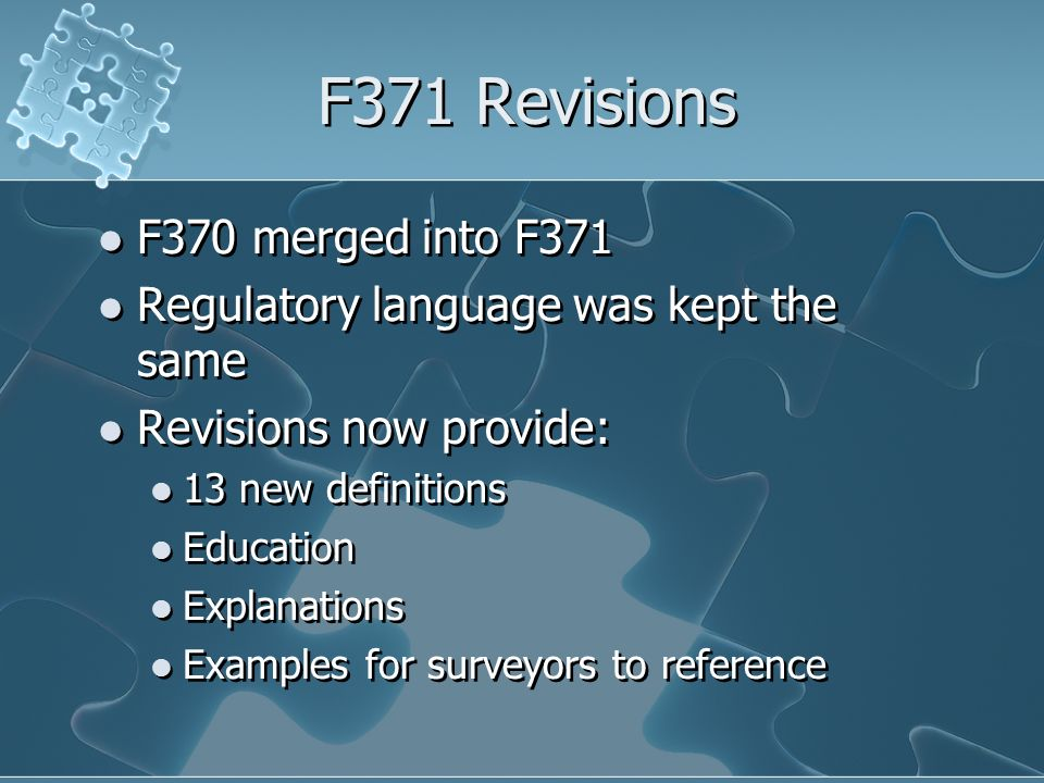 F371 Revisions F370 merged into F371