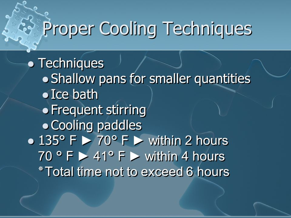 Proper Cooling Techniques
