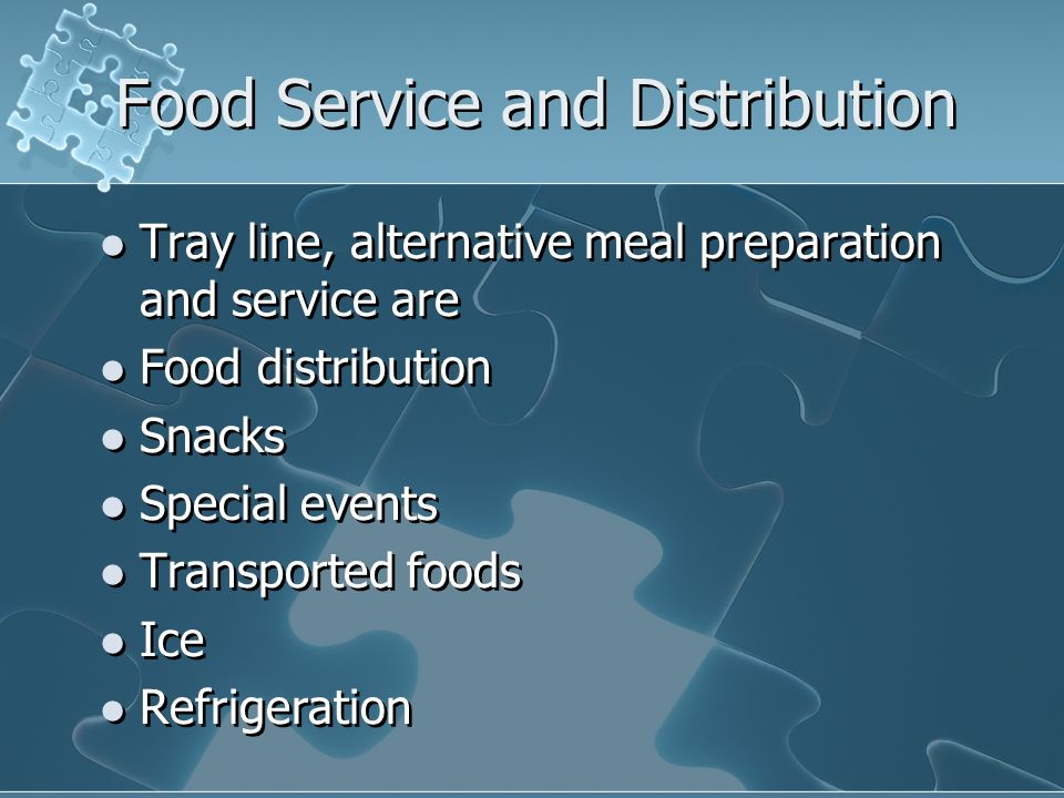 Food Service and Distribution