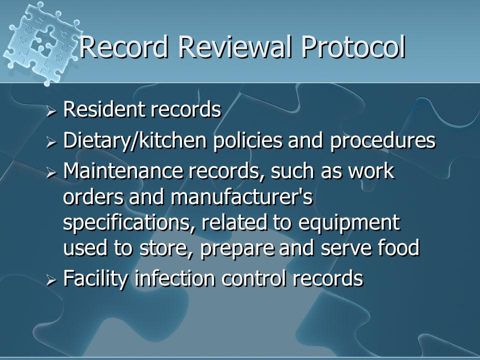 Record Reviewal Protocol