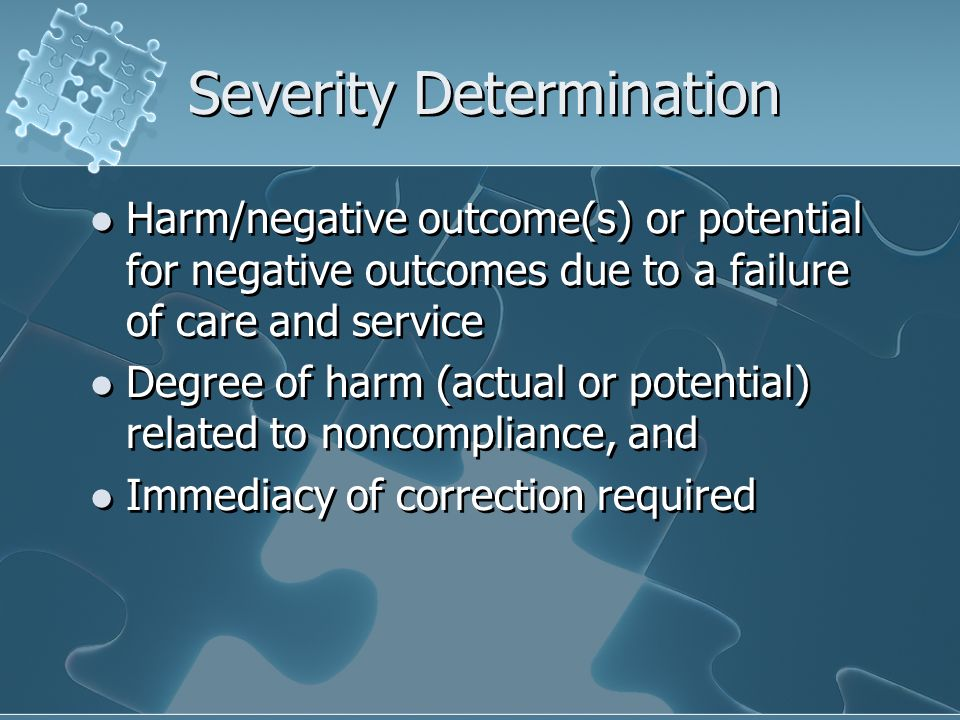 Severity Determination