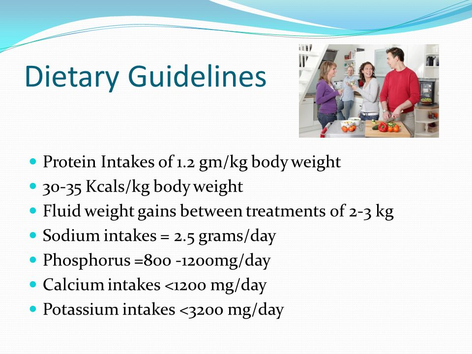 Dietary Guidelines Protein Intakes of 1.2 gm/kg body weight