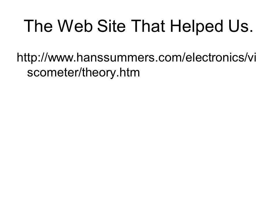 The Web Site That Helped Us.