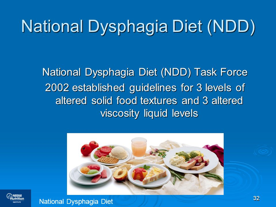 National Dysphagia Diet (NDD)