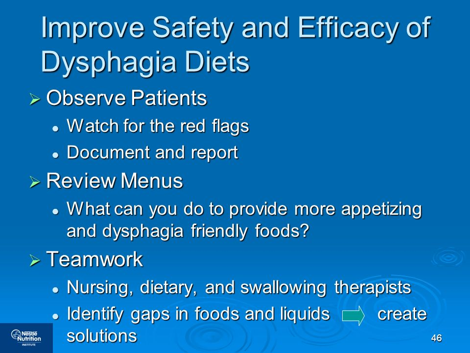 Improve Safety and Efficacy of Dysphagia Diets