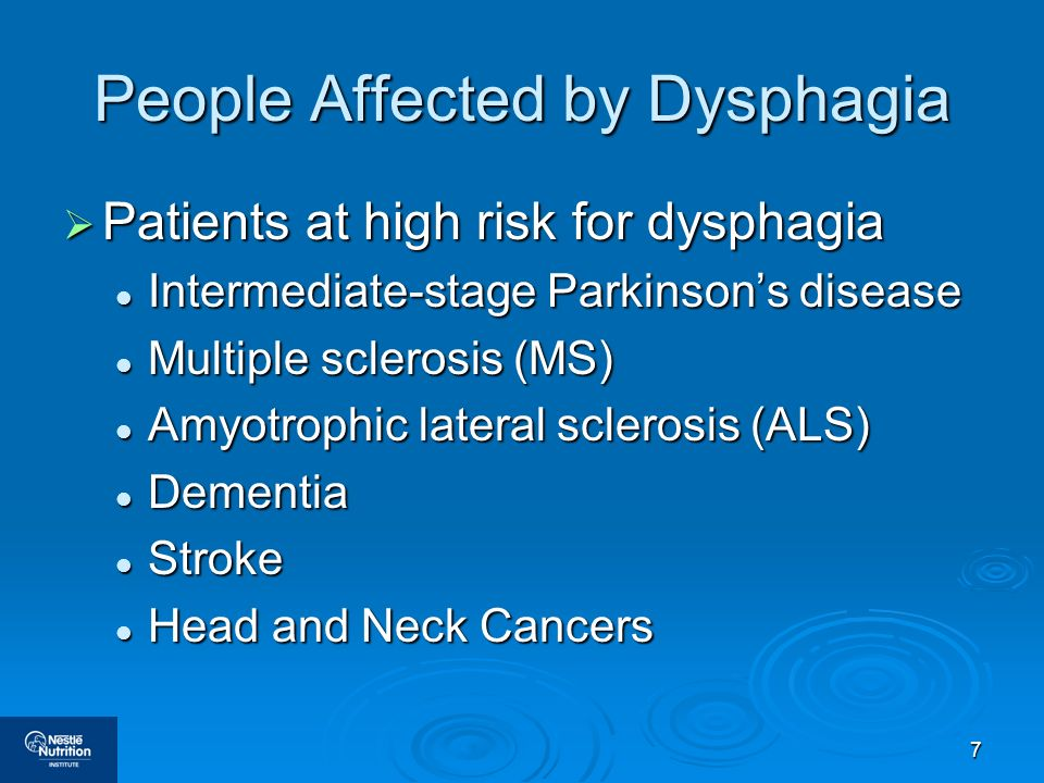People Affected by Dysphagia