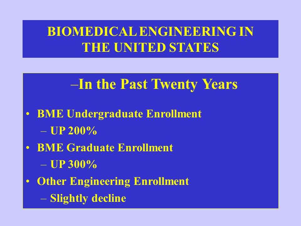 BIOMEDICAL ENGINEERING IN THE UNITED STATES