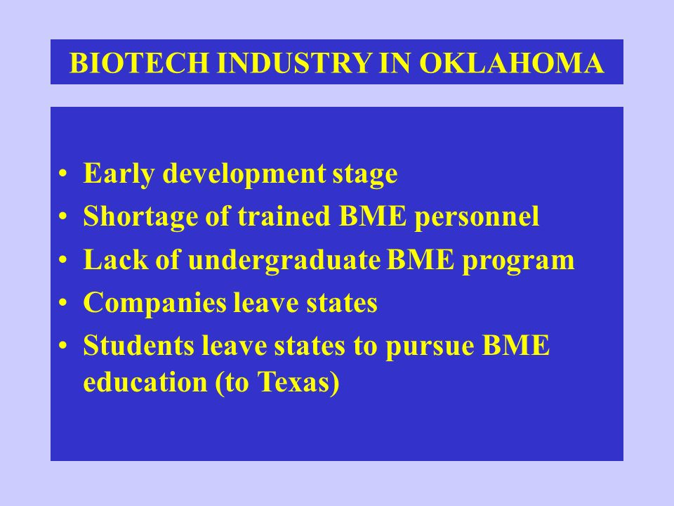 BIOTECH INDUSTRY IN OKLAHOMA