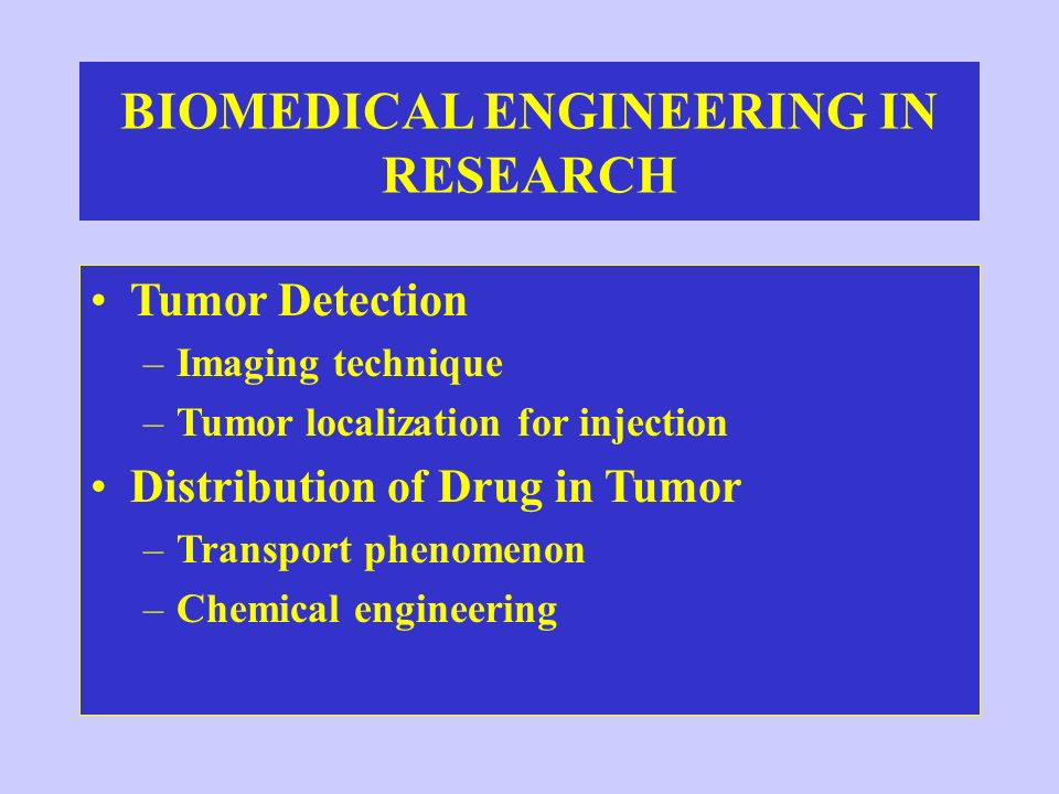 BIOMEDICAL ENGINEERING IN RESEARCH