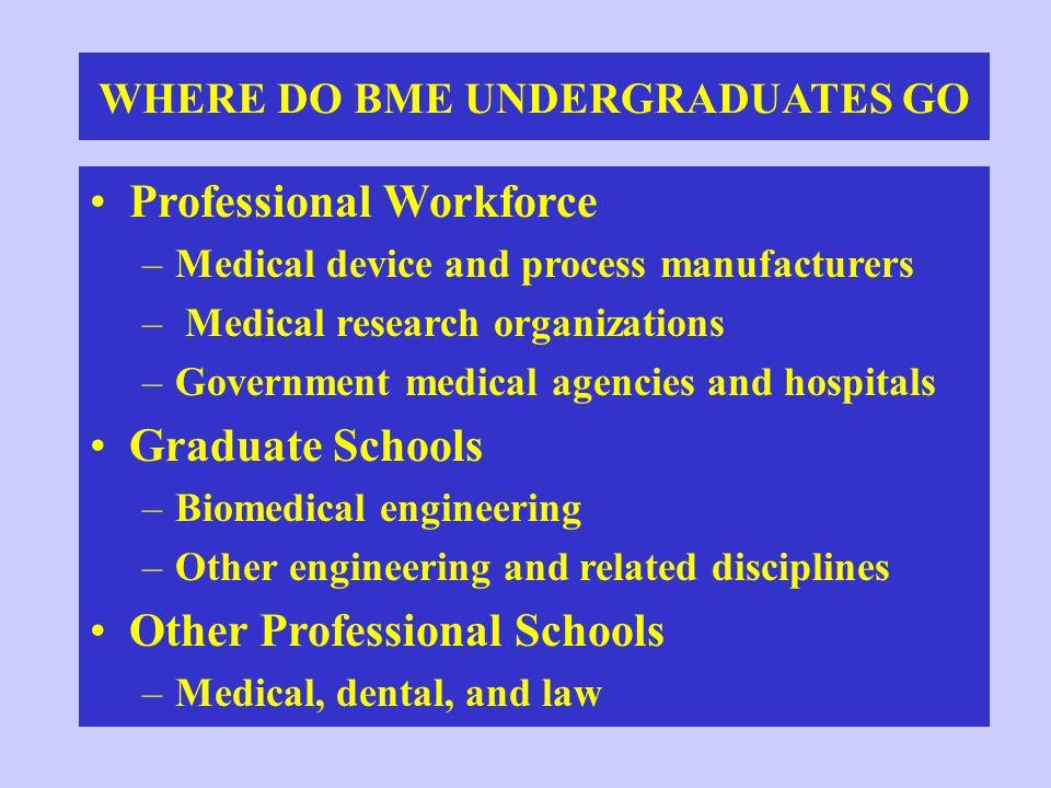 WHERE DO BME UNDERGRADUATES GO