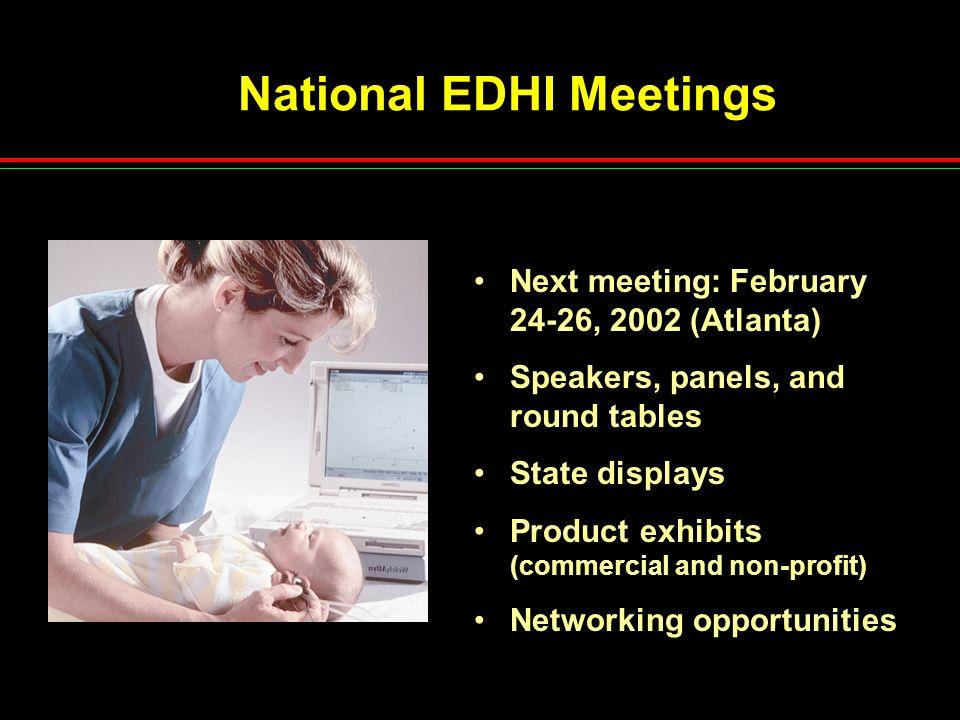 National EDHI Meetings