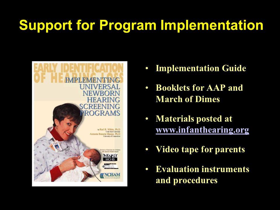 Support for Program Implementation
