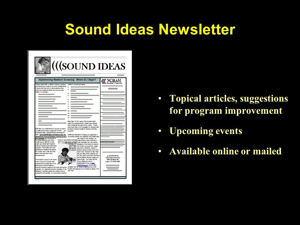 Sound Ideas Newsletter