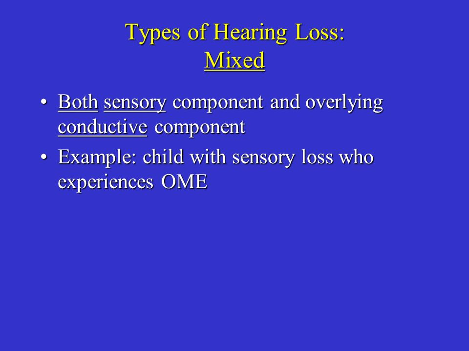 Types of Hearing Loss: Mixed