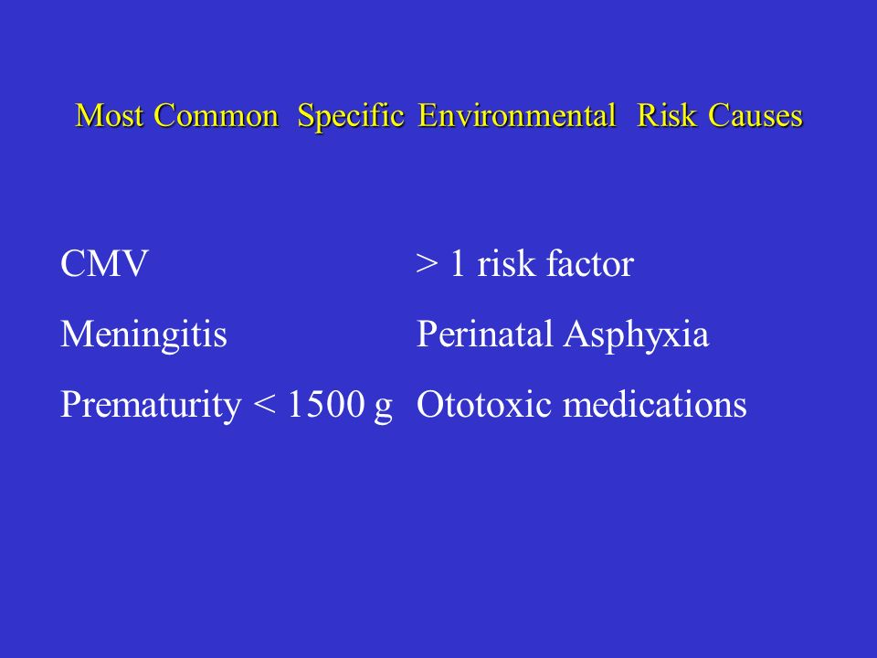 Most Common Specific Environmental Risk Causes