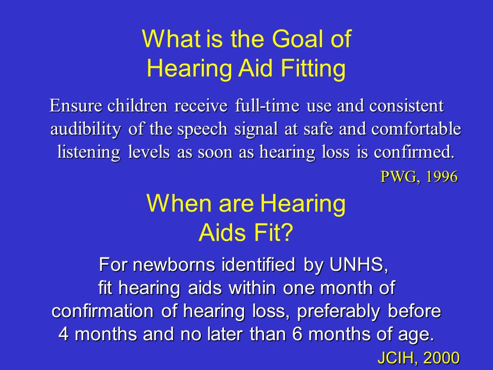When are Hearing Aids Fit