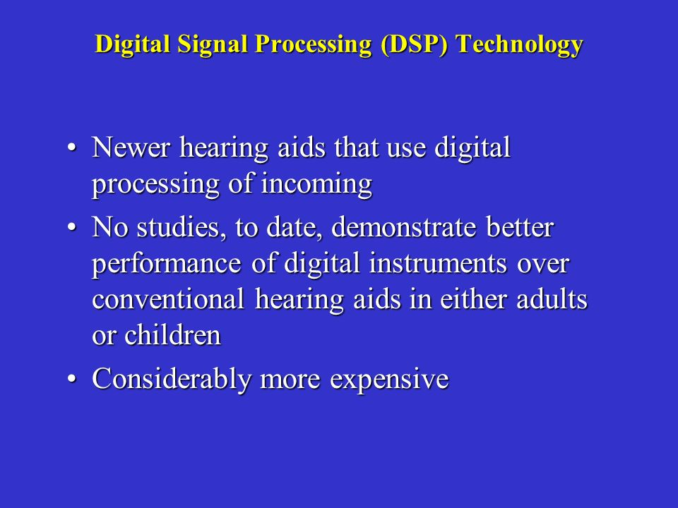 Digital Signal Processing (DSP) Technology