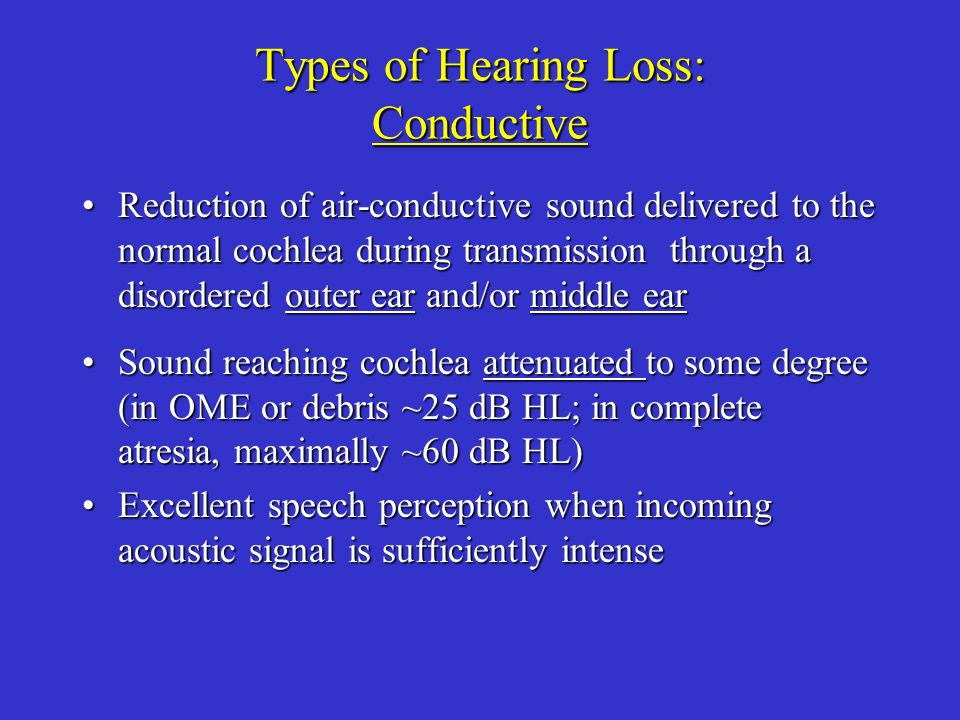 Types of Hearing Loss: Conductive