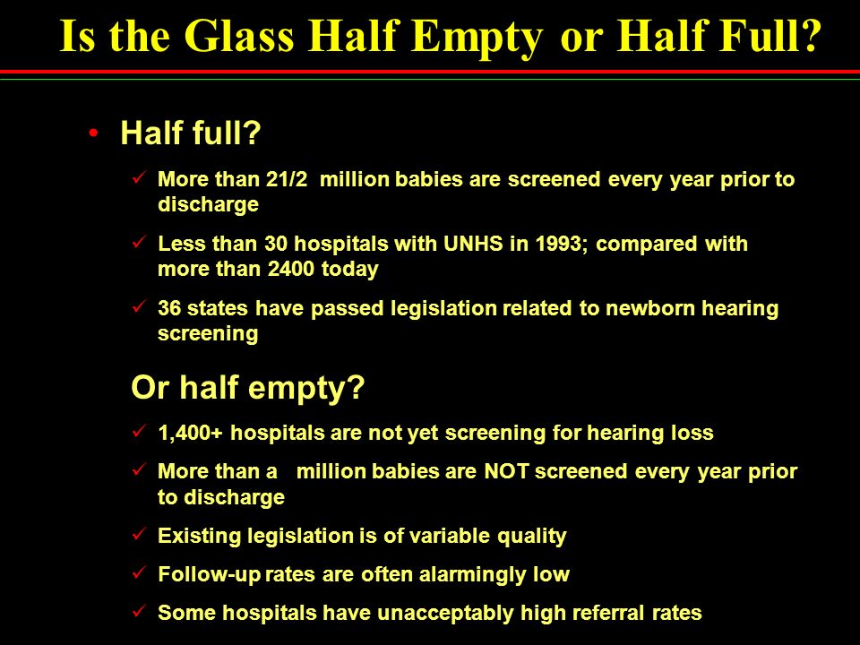 Is the Glass Half Empty or Half Full