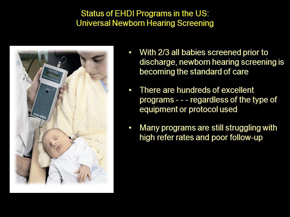 Status of EHDI Programs in the US: Universal Newborn Hearing Screening