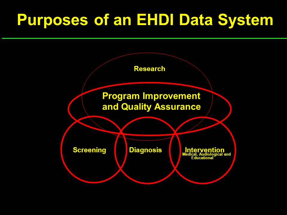 Purposes of an EHDI Data System