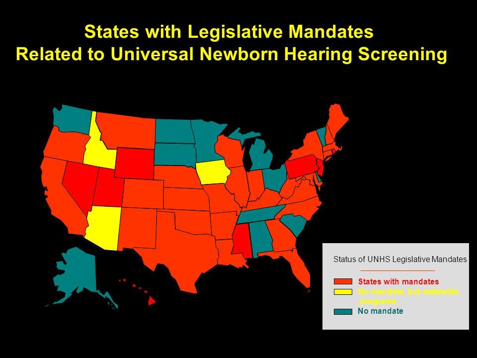 States with Legislative Mandates