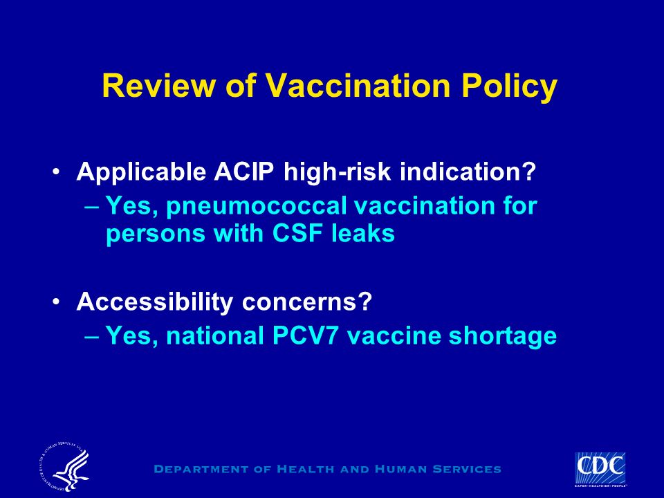 Review of Vaccination Policy