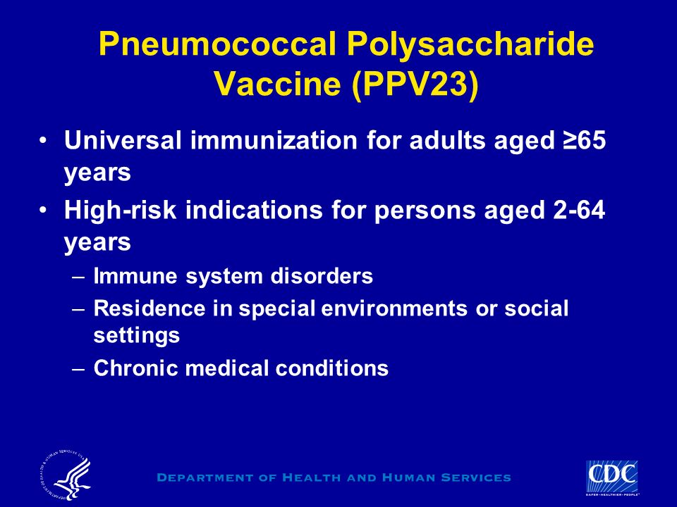 Pneumococcal Polysaccharide Vaccine (PPV23)