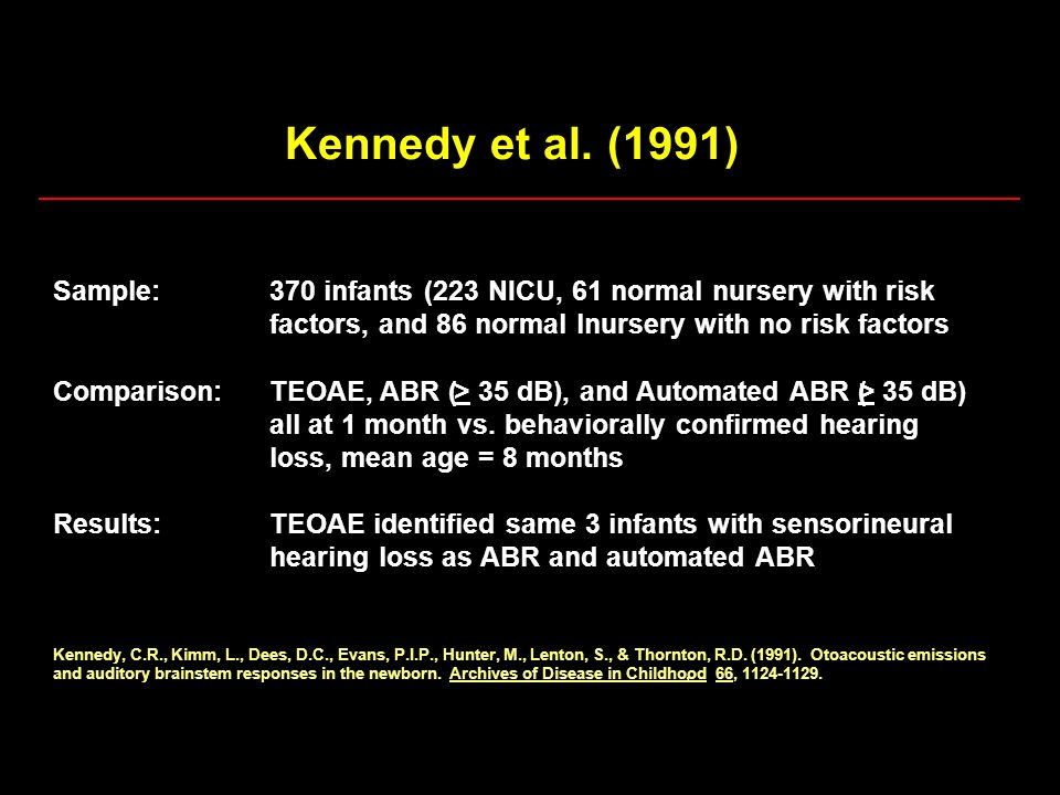 Kennedy et al. (1991) Sample: