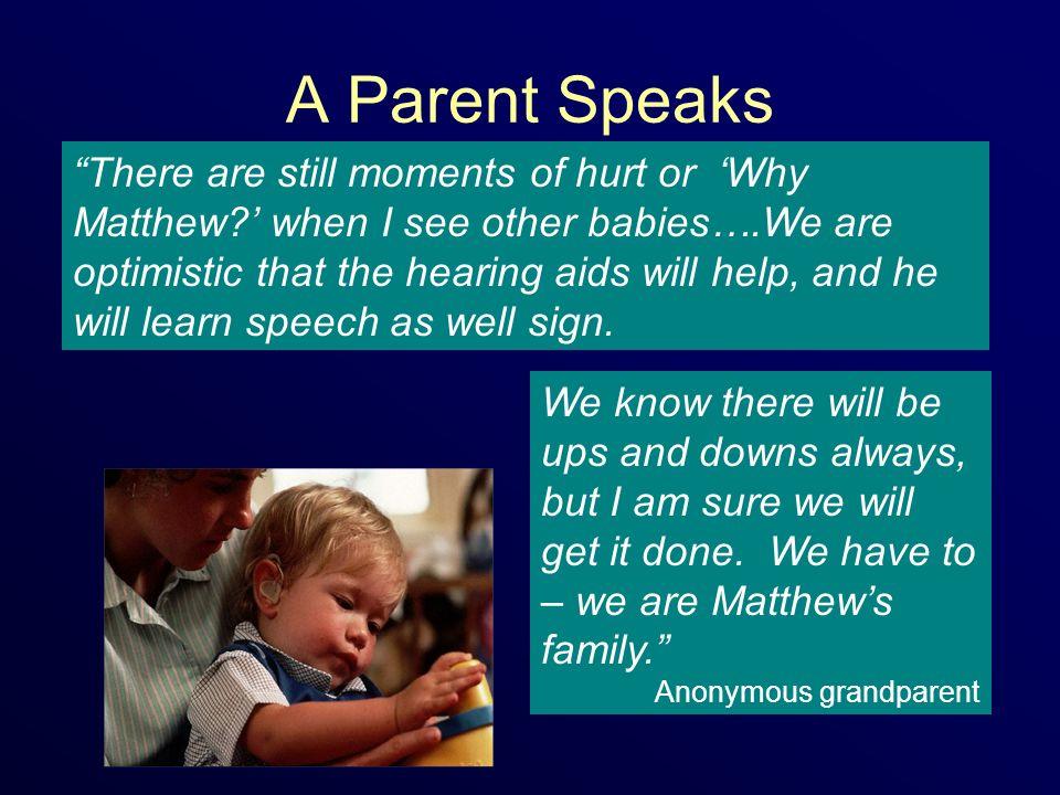 A Parent Speaks