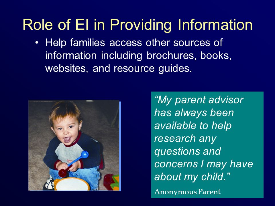 Role of EI in Providing Information