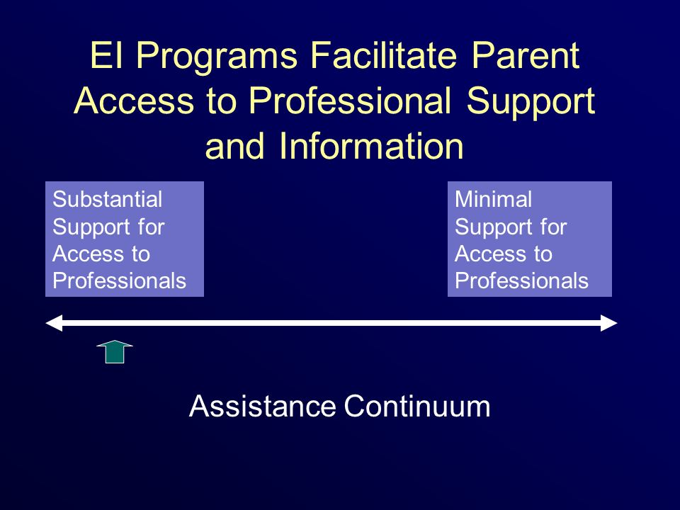 EI Programs Facilitate Parent Access to Professional Support and Information