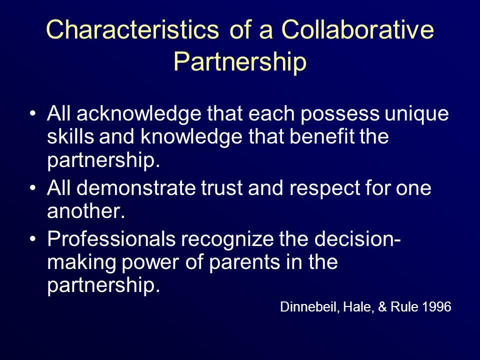 Characteristics of a Collaborative Partnership