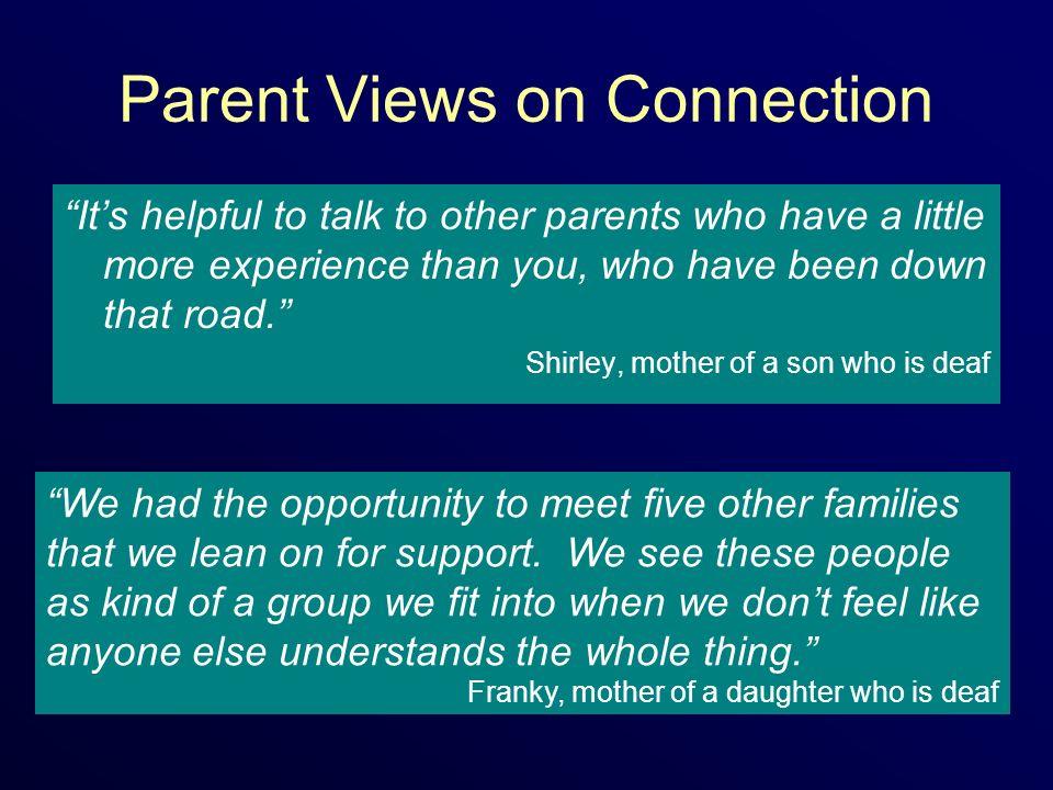 Parent Views on Connection