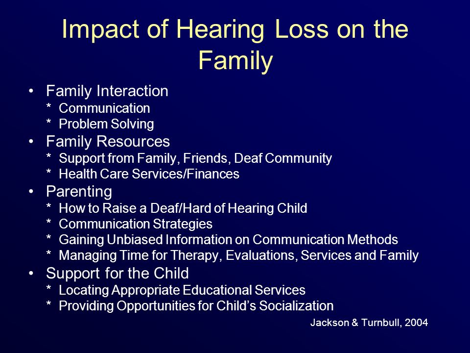 Impact of Hearing Loss on the Family