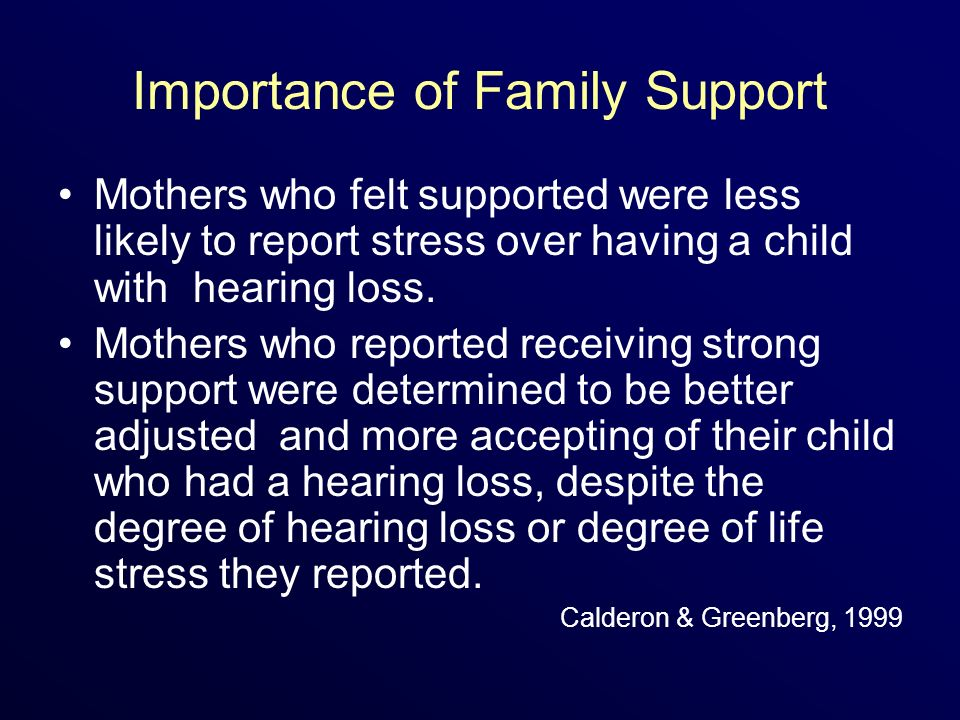 Importance of Family Support