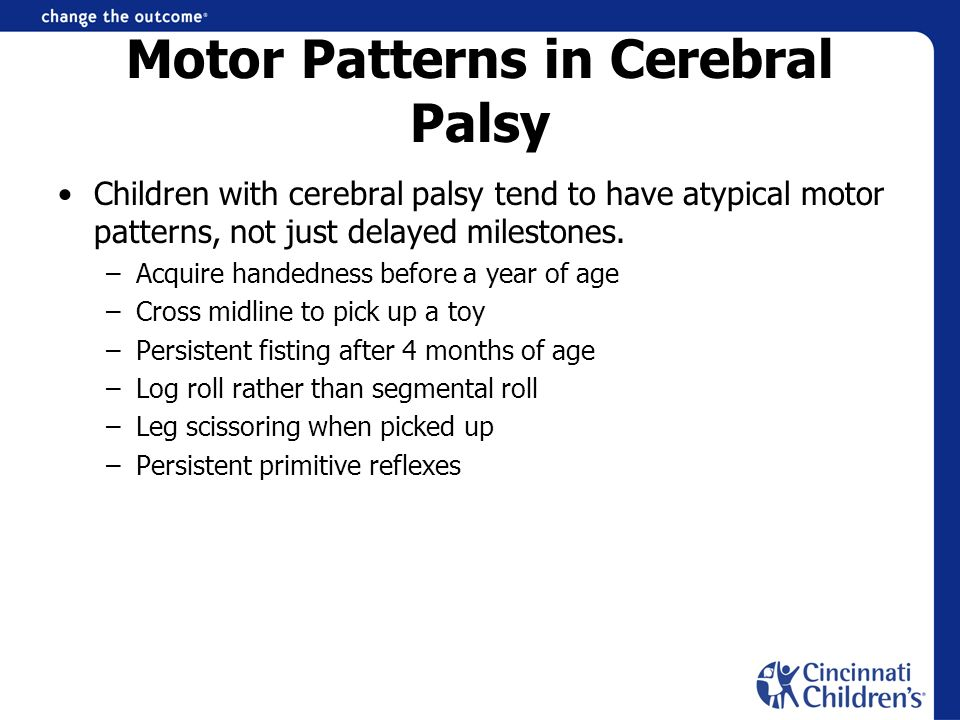 Motor Patterns in Cerebral Palsy