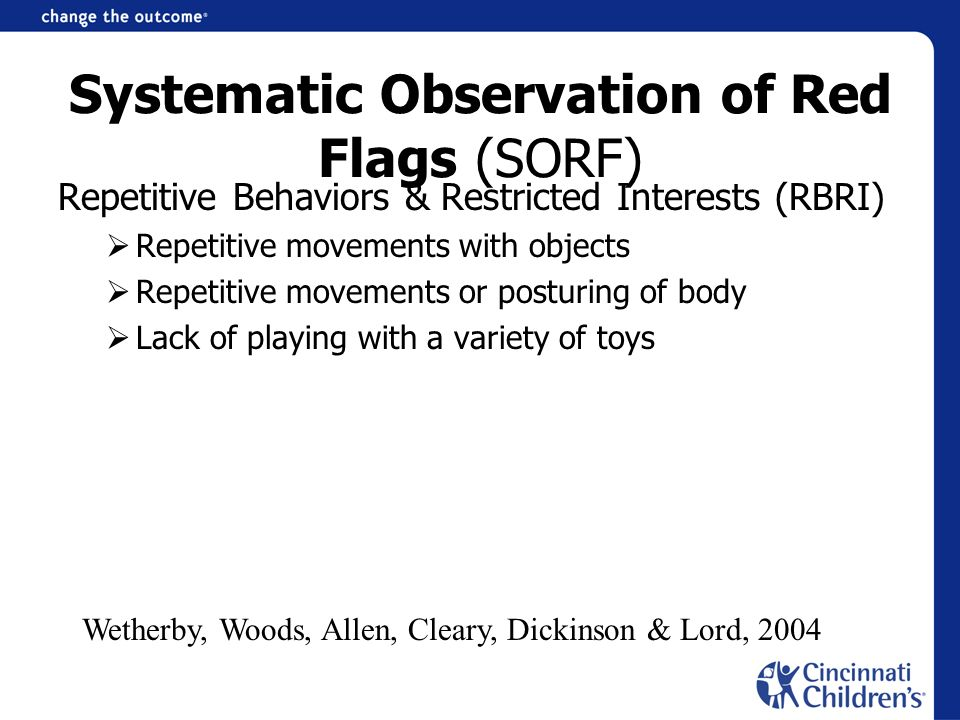 Systematic Observation of Red Flags (SORF)