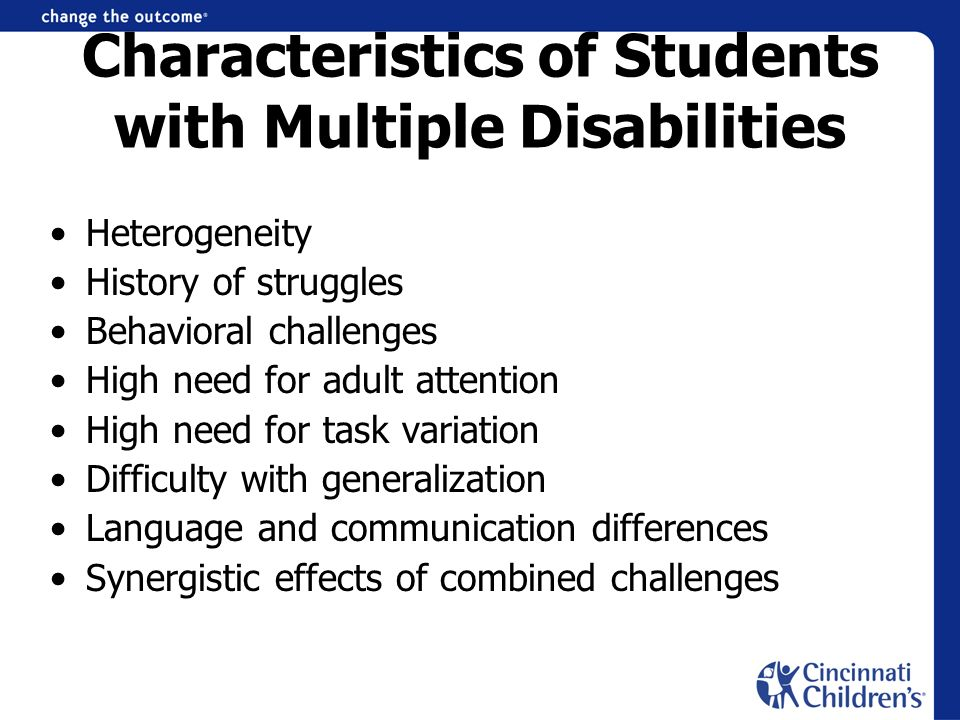 Characteristics of Students with Multiple Disabilities