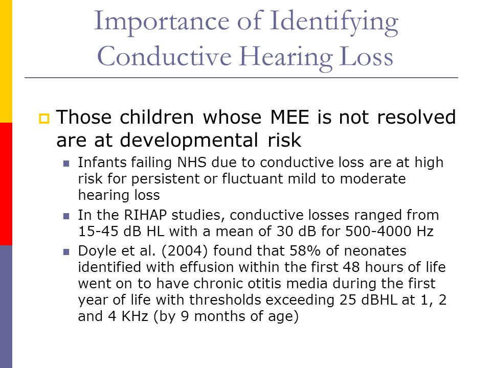 Importance of Identifying Conductive Hearing Loss