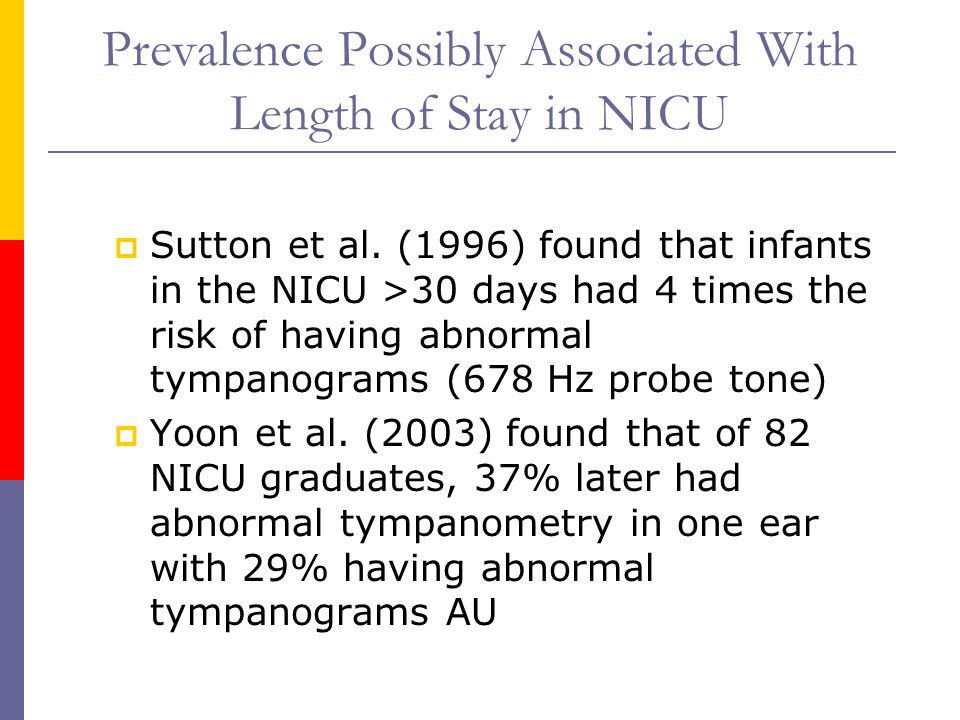 Prevalence Possibly Associated With Length of Stay in NICU