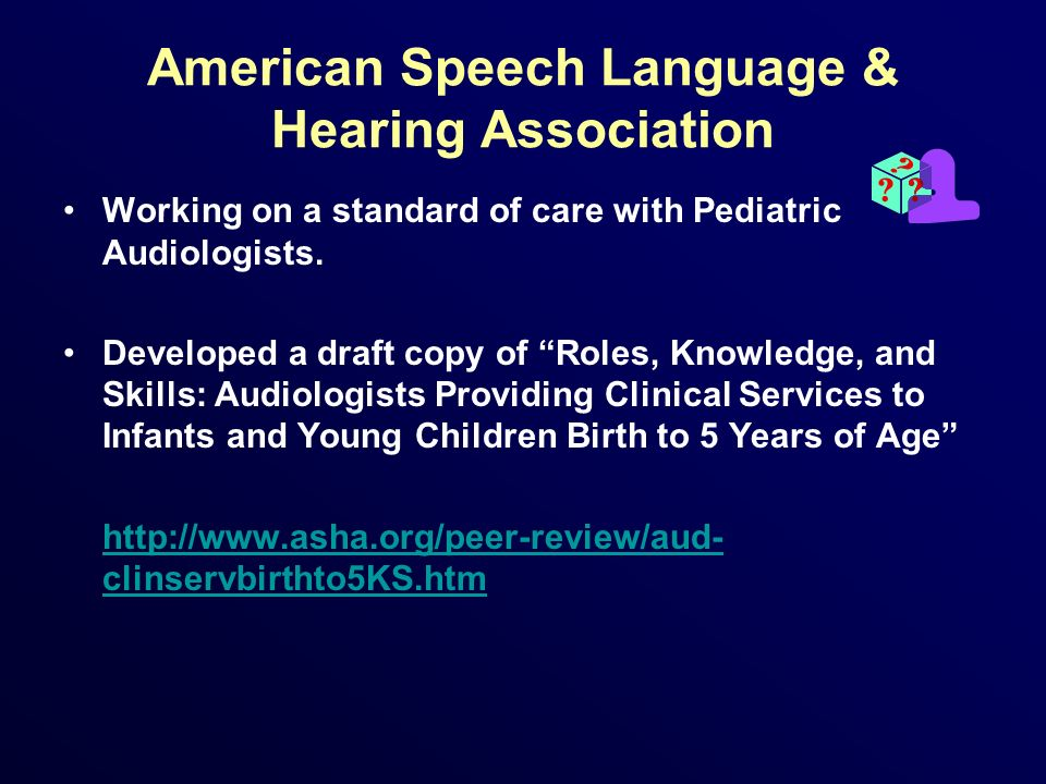 American Speech Language & Hearing Association