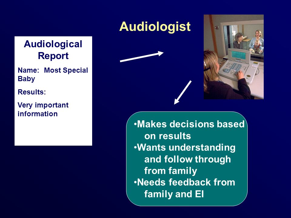 Audiologist Audiological Report Makes decisions based on results