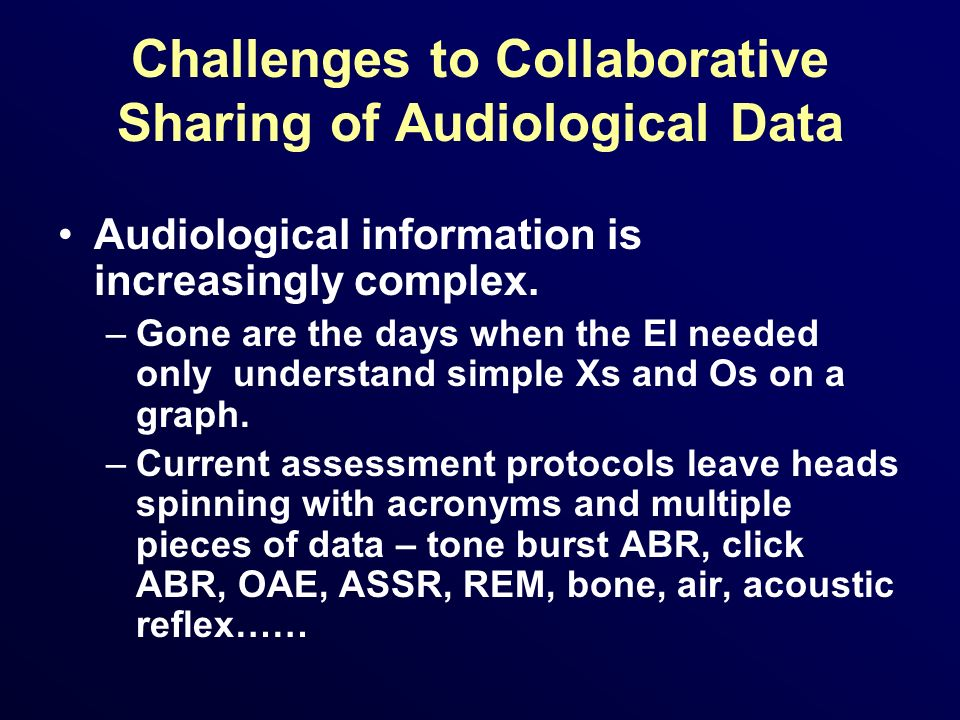Challenges to Collaborative Sharing of Audiological Data